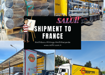Our fittings shipment to France