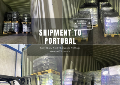 Our fittings shipment to Portugal