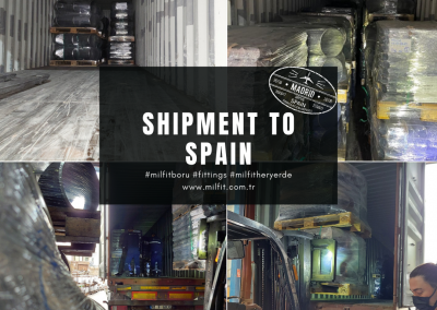Our fittings shipment to Spain